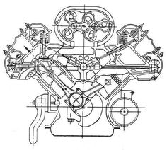 HARLEY DAVIDSON Big 74 80 Flathead Engine Oil System Map