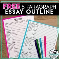 FREE Five Paragraph Essay Outline by The Daring English Teacher | Teachers Pay Teachers