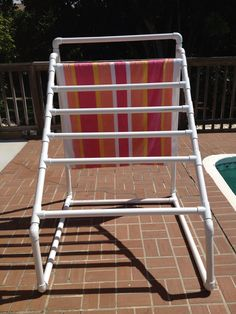 Pool Towel Drying Rack Fascinating Pvc Pool Towel Rack  Totally Need This  Wantneedlove Design Inspiration