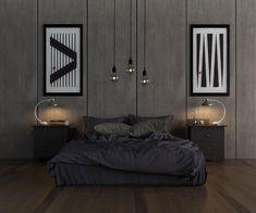 Camera da letto grigia 17