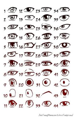 Drawing Realistic Drawing Pencil Portraits - these are anime eyes. I always seem to have trouble at drawing eyes for some reason, so I may have to refer back to this one. :-) Discover The Secrets Of Drawing Realistic Pencil Portraits Realistic Eye Drawing, Drawing Tips, Drawing Reference, Drawing Sketches, Drawing Ideas, Cartoon Eyes Drawing, Drawing Techniques, Sketching, Drawing Faces