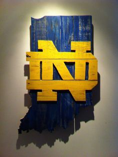 Notre Dame Wall Art notre dame fighting irish distressed wood signwintermountain
