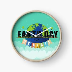 These wall clocks are made from bamboo wood with natural finish or painted black or white. Modern printed polypropylene with plexiglass face. Built in hook at back for easy hanging. Quartz Clock Mechanism, Modern Prints, Earth Day, Wall Clocks, Hand Coloring, Floor Pillows, Wall Tapestry, Duvet Covers, Bamboo