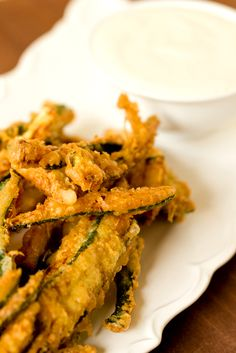 Beer-Battered Zucchini Fries: Another great way to use up zucchini.