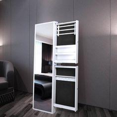 Hübsche Spiegel Schmuckschrank Spiegelschrank Standspiegel weiß für Schlafzimmer | eBay