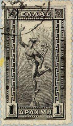 Greek Mythology Tattoos, Greek And Roman Mythology, Greek Gods, Old Stamps, Rare Stamps, Ex Yougoslavie, Vintage Advertising Posters, Postage Stamp Art, Stamp Catalogue