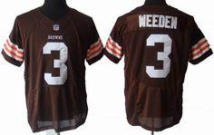 brown Weeden elite NFL Cleveland Browns #3 Jersey  ID:765