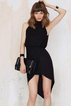 Asymmetric Dress - Black