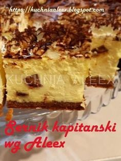 Dorota i Piotr Polish Desserts, Polish Recipes, Baking Recipes, Cookie Recipes, Sweet Cakes, How Sweet Eats, Cheesecake Recipes, No Bake Cake, Sweet Recipes