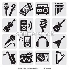 Find Vector Black Musical Instruments Icons Set stock images in HD and millions of other royalty-free stock photos, illustrations and vectors in the Shutterstock collection. Trendy Tattoos, Tattoos For Guys, Elephant Tattoos, Line Illustration, Sound Design, Music Icon, Forearm Tattoos, Black And Grey Tattoos, Icon Set