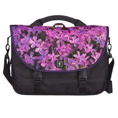 Pretty Purple Flowers Laptop Computer Bag