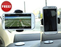 Universal 360° Swivel Windshield Mount for Mobile Devices
