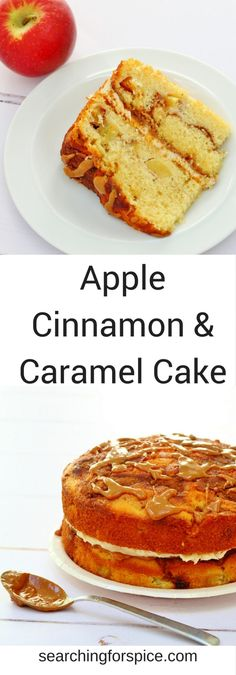 apple cinnamon and caramel cake recipe perfect for everyday or a special occasion. Sandwiched with caramel and cinnamon buttercream and topped with a caramel drizzle it's simply irresistible Apple Cinnamon Cake, Cinnamon Crumble, Cinnamon Recipes, Cinnamon Apples, Caramel Apples, Easy Apple Cake, Apple Cakes, Apple Recipes, Fall Recipes