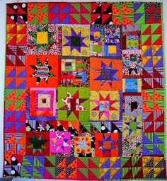 Quilts Improvisados: Gwen Marston and Freddy Moran inspired quilt
