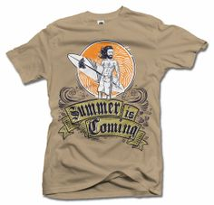 SUMMER IS COMING (GAME OF THRONES) FUNNY T-SHIRT Men's Tee (6.1oz)