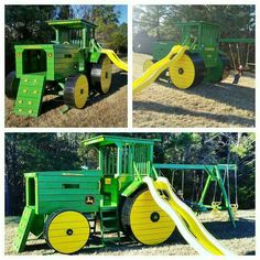 John Deere playground. Love it!! Found on the Internet,  credit goes to where it belongs.