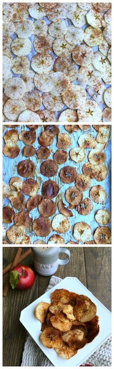 These baked cinnamon apple chips are crunchy, sweet, tasty and absolutely addicting. What's not to love!