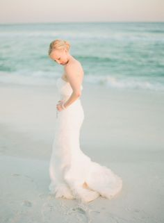 Two Classic Beach Weddings And Invitations