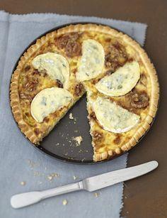 Tarte gourmande aux poireaux et noix & au Bresse Bleu
