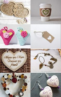 september finds - rustic hearts  by louise martindale on Etsy--Pinned with…