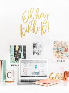 Kikki.K: My New Stationery Obsession, like the 'hello' sprayed in gold