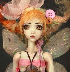 "Porcelain FORGOTTEN HEARTS BJD Ball Jointed Doll ""Borrower Pixie"" Fira ..."