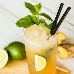 Disarono Mule-1 1/2 parts Disaronno - 4 lime slices-2 spoons sugar-ginger ale