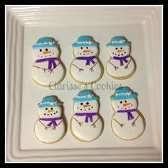 snowman sugar cookies I did for my son's preschool class used americolor gourmet markers for eyes, arms, nose mouth 2013
