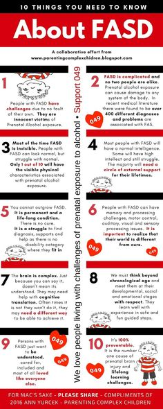 Parenting Complex Children, The Little D's.: Day 10 Ten Things You Need to Know About FASD (Fetal Alcohol Spectrum Disorders)