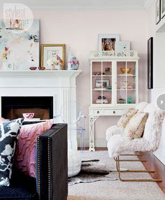 tickled pink....lovely living space