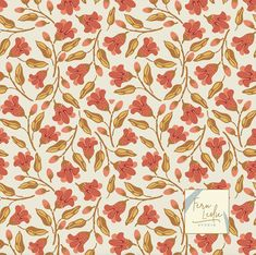 This beautiful flower pattern designed by Fern Leslie is one of my favorites from this blog post. Click the link to see more inspiring patterns! Flower design, flower illustration, repeating pattern, pattern design, textile design, allover floral pattern Flower Pattern Design, Surface Pattern Design, Pattern Art, Flower Designs, Art Patterns, Pattern Designs, Floral Drawing, Design Lab, Love Painting