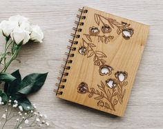 Laser Art, Laser Cut Wood, Wood Crafts, Diy And Crafts, Paper Crafts, Wood Invitation, Wood Book, Cute Notebooks, Journal Notebook