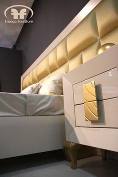 Cabeceros con excelente Tapizado Franco Furniture #headboards #bedrooms #gold