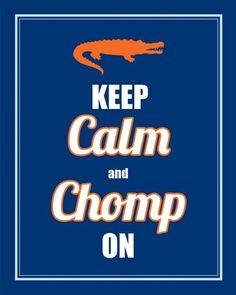 Totally loveee this. It's okay to say I loveeeee something I made, right? :) @mrsgator Keep Calm and Chomp On Gator Print