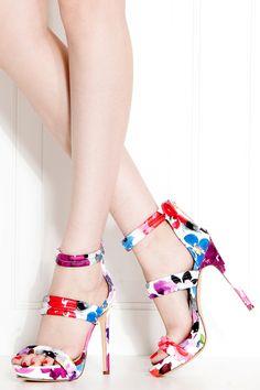 Red Floral Print Stitched Platform Heels @ Cicihot Heel Shoes online store sales:Stiletto Heel Shoes,High Heel Pumps,Womens High Heel Shoes,Prom Shoes,Summer Shoes,Spring Shoes,Spool Heel,Womens Dress Shoes