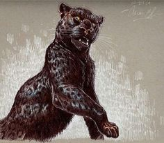Black panter by Aaron blaise