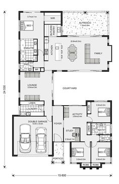 16 New House Floor Plan Ideas New House Floor Plan Ideas - PERFECTA Floorplan Architecture House Plans Blueprints and Single Storey House Design The Metro Smart Practical Awesome f. New House Plans, Dream House Plans, Small House Plans, House Floor Plans, Home Design Floor Plans, Bedroom Floor Plans, Building Plans, Building A House, Courtyard House Plans
