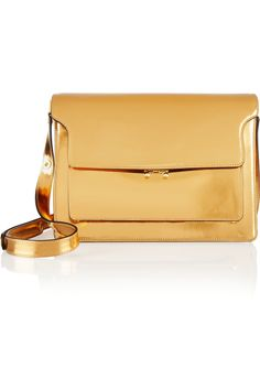 Marni | Metallic patent-leather shoulder bag | NET-A-PORTER.COM