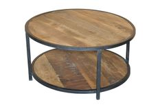 Otb Grey Wash Finish 36 Inch Round Coffee Table - Signature