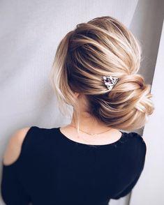 Updo wedding hairstyle , elegant bridal updo haistyle,chignon #weddinghairstyle #hairstyles #updstyle #updo
