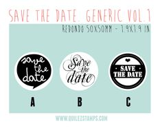 Save the Date Stamp. Design: Quilez Stamps
