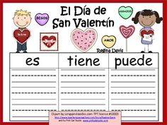 A+ El Dia de San Valentin...Three Spanish Graphic Organizers