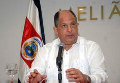 Conferencia de prensa de Luis Guillermo Solís, presidente de Costa Rica.