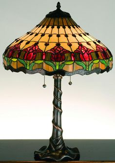 """0-002469>26"""""""" Colonial Tulip Table Lamp"""