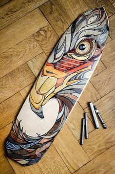Custom skateboard art