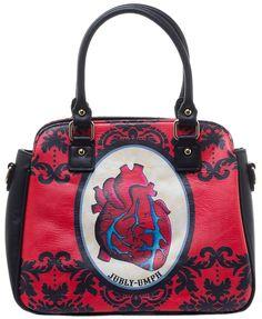 JUBLY UMPH ANATOMICAL HEART HANDBAG - Purses - Accessories - Gals - Sourpuss Clothing
