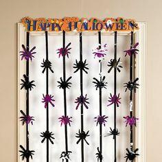 """Halloween Door Decorations   Happy Halloween"""" Door Curtain - Crawl up into the big ideas! Usr ..."""