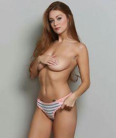 #SexySaturday beautiful @leannadecker_!  #MustFollow #Model #Sexy #Redhead #Babes #HotChicks #Hottie #Busty #handbras #panties #topless