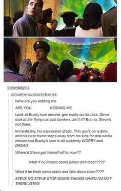 Bucky and pre-serum Steve