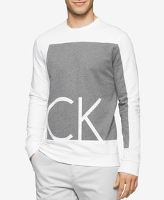 Calvin Klein Men's Slim-Fit Colorblocked Graphic Print Shirt